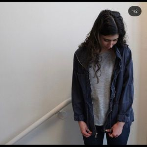 Blue Old Navy Army Jacket